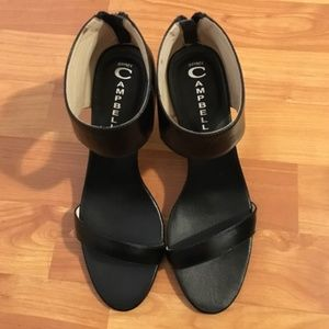 Jeffrey Campbell peep toe wedge heel ankle shoes